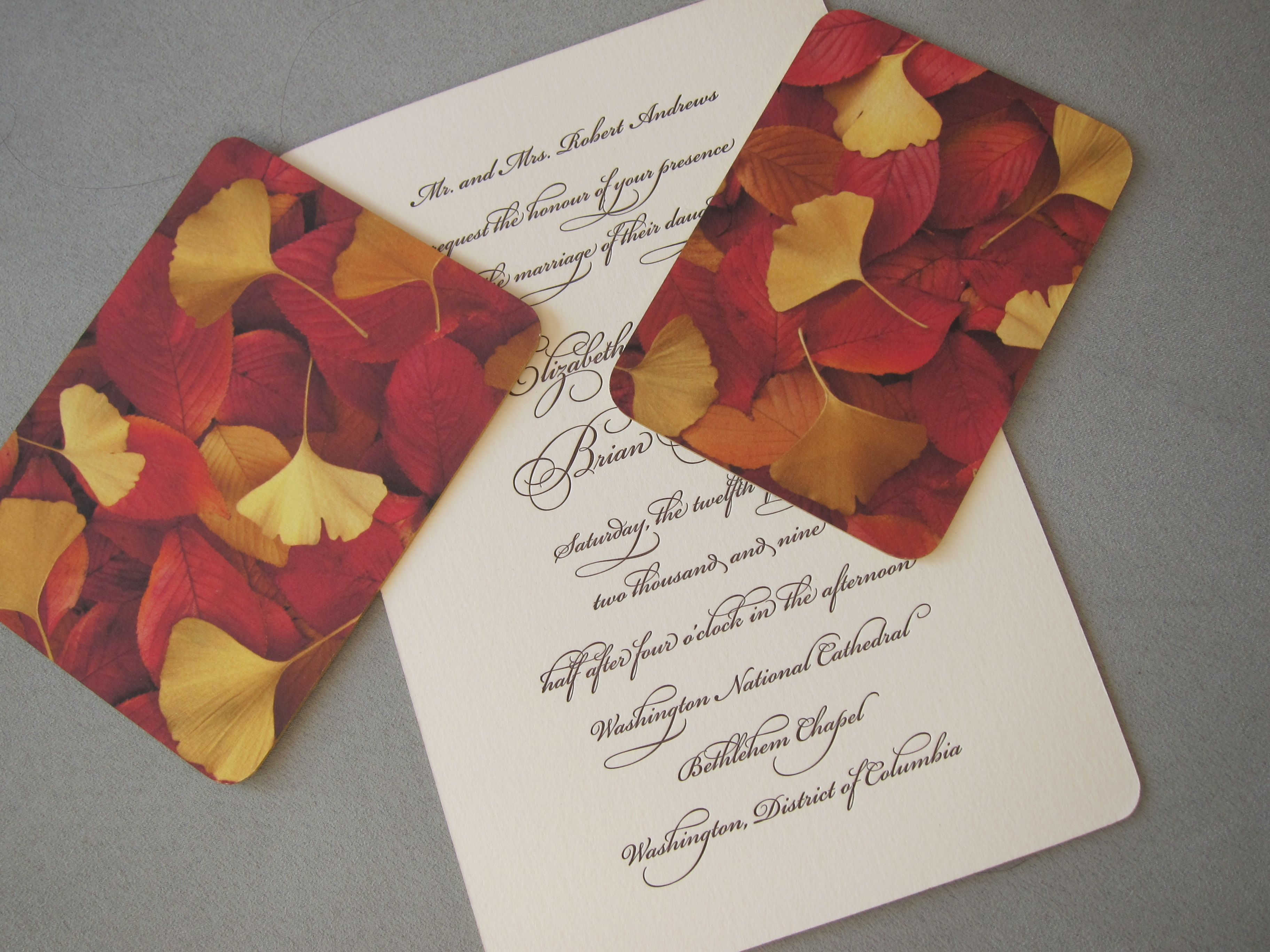 Julie Holcomb Letterpress Wedding Invitations   VERMONT WEDDING PARLOR